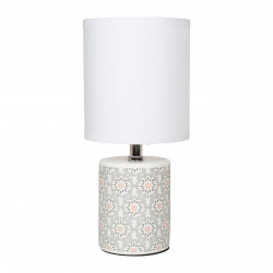 LAMPE CYL.CER.MOSAIQ.GRIS ROSE
