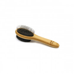 BROSSE DOUBLE FACE BAMBOU 5.2X19CM TAILL
