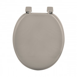 ABATTANT WC MDF UNI TAUPE CHARNIERES PLA