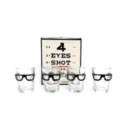 S/4 VERRES A SHOOTER A LUNETTES