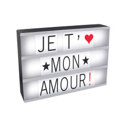 BOITE A MESSAGES LUMINEUSE A4 85 LETTRES