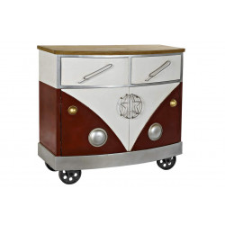 COMMODE COMBI FOURGONETTE ROUGE  90X42X8