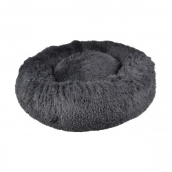 COUSSIN FLUFFY ANTHRACITE ROND APAISANT