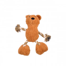 JOUET PELUCHE OURS POLYESTER + CORDE  SO