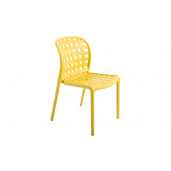 CHAISE CORFOU AJOUREE POLYPRO CURRY