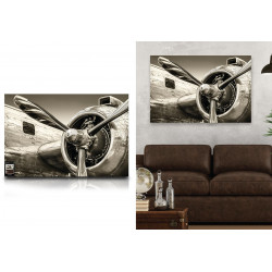 TOILE HELICES AVION 120X80CMS
