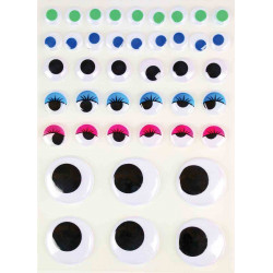 YEUX MOBILES ADHESIFS COULEURS 1,5 A 4 C