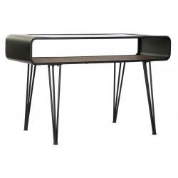 CONSOLE INDUS OVAL METAL VERRE 120X55X72