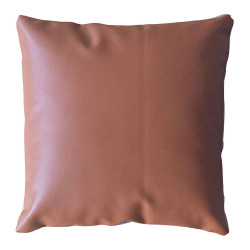 COUSSIN ZIP DOUBLE FACE ASPECT CUIR CAME