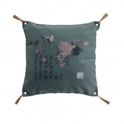 COUSSIN TRAVEL 40 x 40 CM POMPONS POLYES